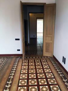MosaicosBarcelona | Restauracion de suelo de mosaico nolla con impermeabilizacion en Barcelona
