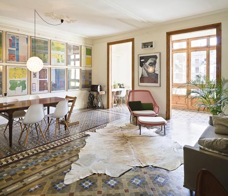 Apartamento en Consell de Cent suelo restaurado