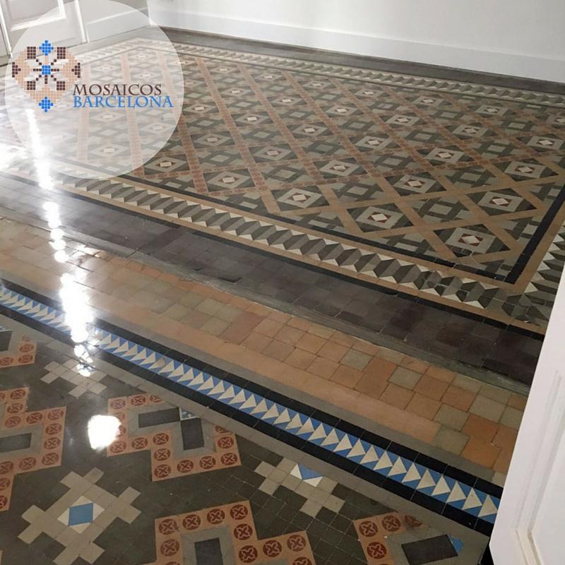 Mosaicos-Barcelona-baldosa-hidraulica-acristalada-en-Barcelona