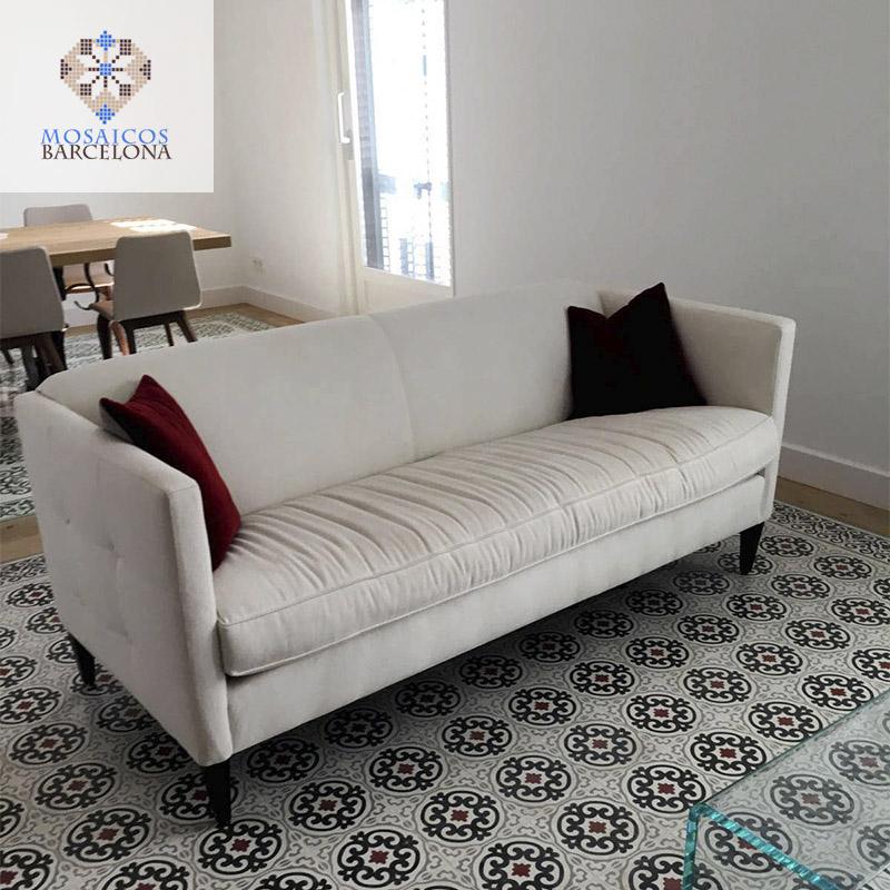 MosaicosBarcelona-Abrillantado-de-pavimentos-hidraulicos-originales-en-vivienda-de-Barcelona