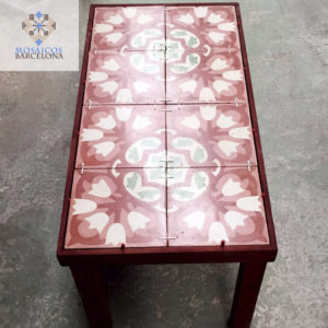 MosaicosBarcelona |Mosaicos hidraulicos recuperados para mesa decorativa