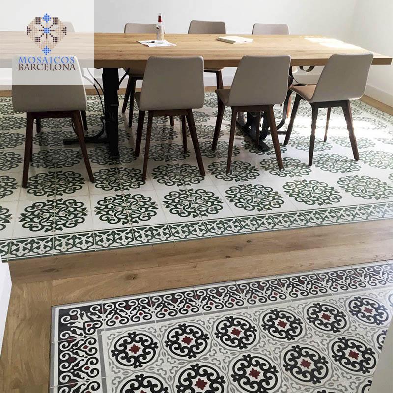 MosaicosBarcelona | Reparacion de mosaicos hidraulicos en vivienda de Barcelona