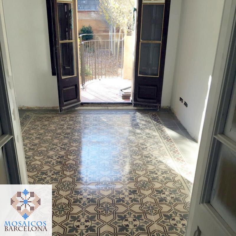 MosaicosBarcelona Enero 2017 Restauración mosaico hidráulico Barcelona