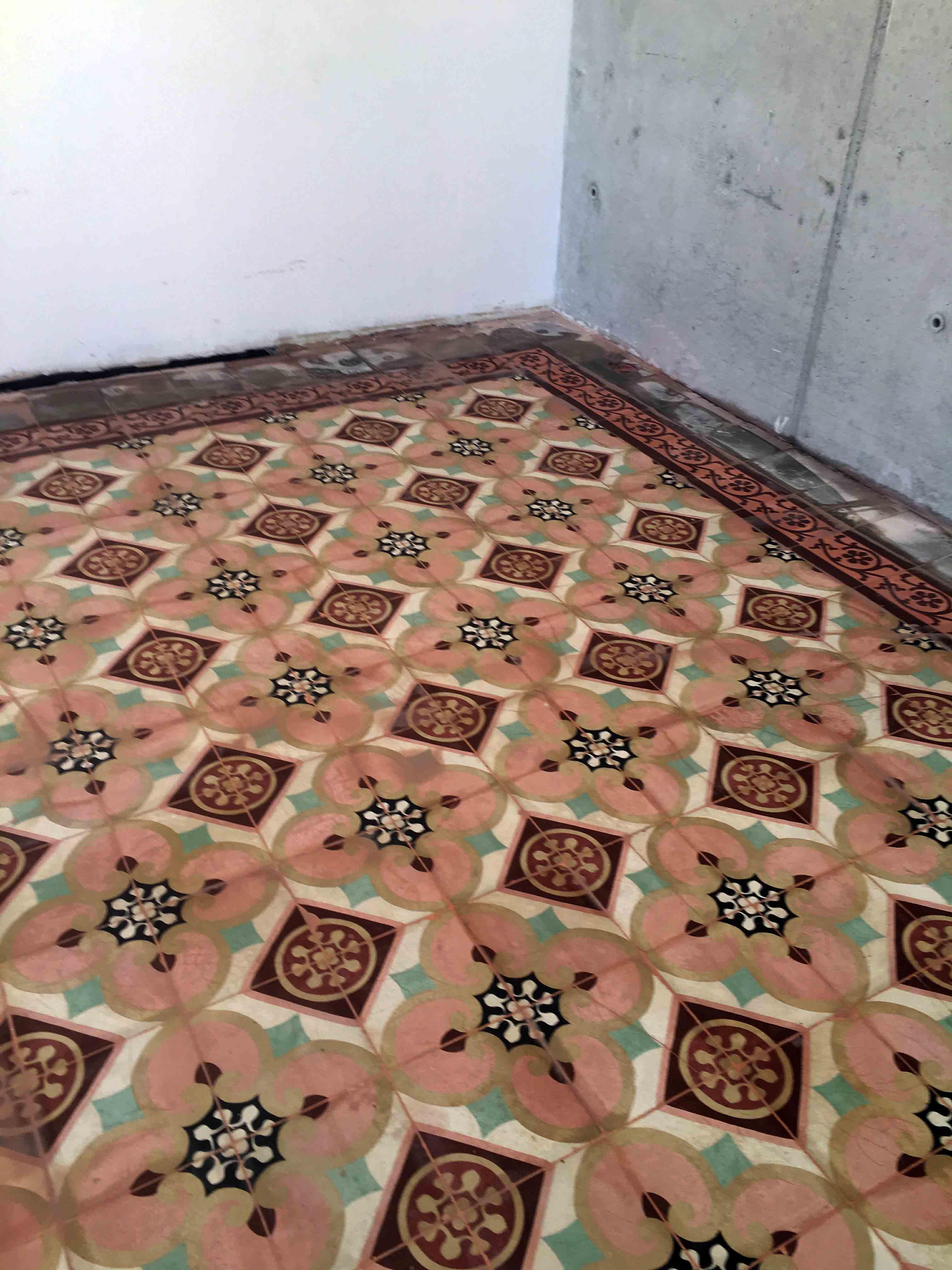 Pulido Y Abrillantado De Suelo De Mosaico Hidr Ulicos En Vivienda  ~ Como Limpiar Suelo Hidraulico Antiguo